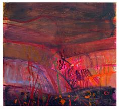 Volterra Fields by Barbara Rae, mixed media,100 x 109cm