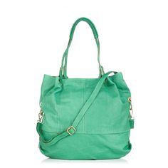 Marlafiji Mia Slouchy Green Leather Hobo