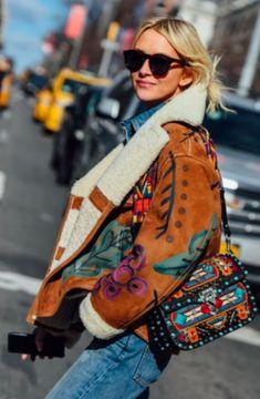 Street Style, Tommy Ton, NYFW, New York Fashion Week, Shearling Jacket, Flight Jacket.
