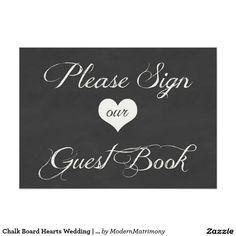 Chalk Board Hearts Wedding | Guest Book