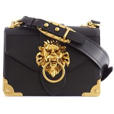 ef0f352e25 PRADA CAHIER LION HEAD LEATHER BAG ( 2