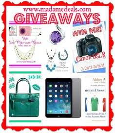 Amazing prizes! Madamedeals.com #giveaways http://madamedeals.com/contests/
