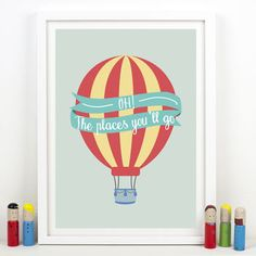 'Oh! The Places You'll Go' Balloon Print