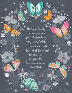 Being a Family Quote Mother's Day Printable Cards from Bluemountain.com