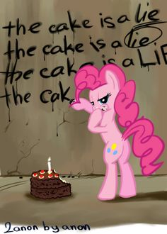 Pinkie Pie x Portal, awesome