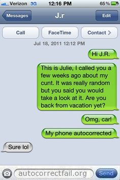 Autocorrect Fail | Hilarious Auto Correct blunders and funny texts and messages…