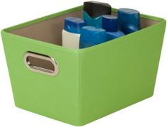 Amazon.com - Honey-Can-Do Decorative Storage Bin with Chrome Handles, Small, Lime Green - Open Home Storage Bins