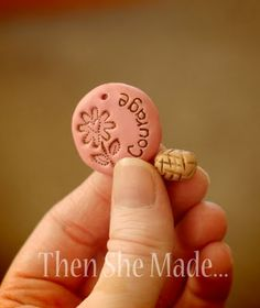 Polymer clay tips - DIY pendant ^ ^ I want to make these for all my nieces with their names on them!