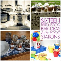 16 party bar ideas or food stations! They make cooking for lots of people way easier! (via @thecraftblog )