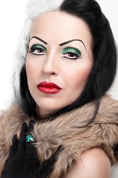 Cruella de Vil on Flickr.  Makeup/Hair: Andrea Martín Model: Andrea Martín @Tiffany Lamb