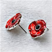 Poppy Stud Earrings C$29.95 - all proceeds supports Royal Canadian Legion programmes