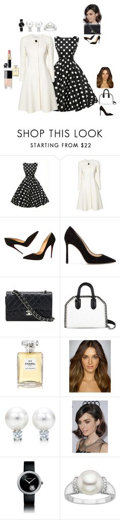 """""""classiс or visit to Queen)"""" by cocochanel-55 on Polyvore featuring мода, Carolina Herrera, Christian Louboutin, Jimmy Choo, Chanel, STELLA McCARTNEY и COS"""