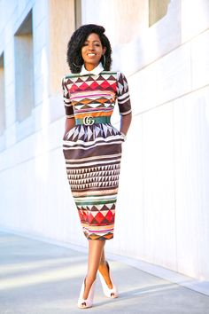 Gorgeous print dress as worn by Style Pantry