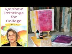 Different Media, Different Colors, Gel Press, Ranger Ink, Collages, Stencils, Mixed Media, Rainbow, Colours