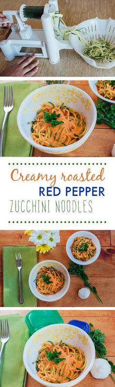 Do you Zoodle? I love making my pasta out of Zuchinni this yummy recipe has you paring Roasted Red Peppers with Goat Cheese for an awesome sauce.