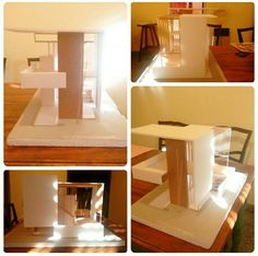 Primer maqueta,  curso de ingreso.  Espacio recorrible  #architecture #maqueta