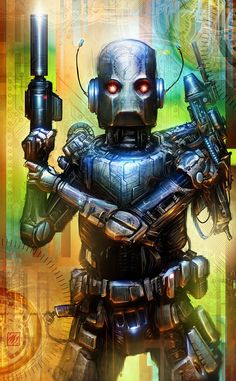 Android Picture  (2d, sci-fi, robot, android, mechanical, retro, cyberpunk)