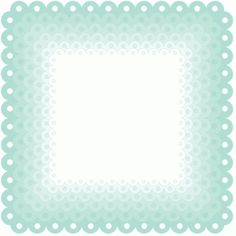 Silhouette Design Store: nested scallop fancy squares