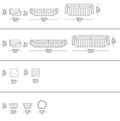 Dimensions TACTILE | Sofa
