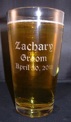 Personalized Engraved 20oz Beverage/Pint Glass