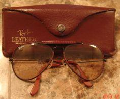 57cedd768 Original Vintage Ray Ban Leathers Bausch&Lomb Sunglasses Vintage  Sunglasses, Sunglasses Case, See Through,