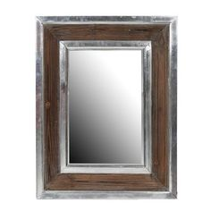 Aluminum and Wood Rectangle Mirror