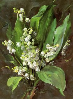 Lily of the Valley - Blank Card | Mill House Fine Art – Publishers of Anne Cotterill Flower Art
