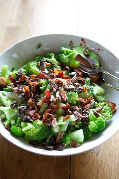 Broccoli salad with bacon and pecans   Five And Spice