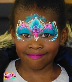 Princess Face Painting, Girl Face Painting, Mask Painting, Face Painting Designs, Painting For Kids, Festival Face Jewels, Painted Faces, Face Art, Face And Body