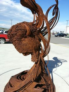 Sculpture at Sky dancer Casino, Belcourt,  ND