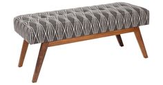 Exclusive to One Kings Lane: Upholstered in a contemporary design, this clean-lined bench rests on an alder frame.    Handcrafted in the USA.Kim Salmela's furniture line is a couture collection is...