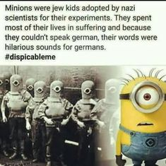 STOP POSTING MINIONS OR YOURE A NAZI SYMPATHIZER IS THAT WHAT THIS MEANS