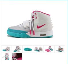 499dc9280f5bf Nike Air Yeezy 2 Sneaker Grey Pink Women s Shoes Air Yeezy 2