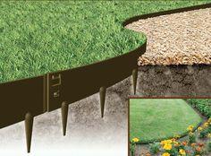 GardensOnline: Flexible Steel Garden Edging Galvanised and Powder Coated - Everedge