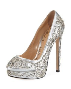 a63bfa06978e Christian Louboutin Fifi Strass 100mm Pumps Silver ...