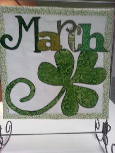 quilt shop calendar  | March Calendar Quilt | Projects for classes I teach