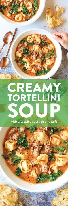 Creamy Tortellini Soup Recipe | Creamy Soup Recipes | Damn Delicious