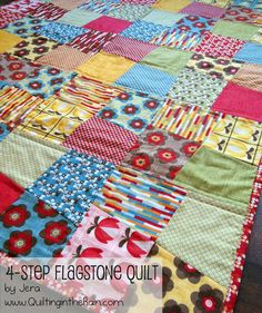 Moda Bake Shop: Four Step Flagstone Quilt sewn with Boho