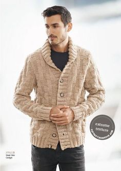 PaulJones Uomo Sweater Cardigan Twisted Elegant Long Sleeves Thick Straight Collar