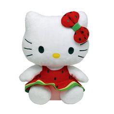 Ty Licensed Beanie Hello Kitty Watermelon Baby Soft Toy by Ty Hello Kitty Gifts, Hello Kitty Toys, Kitty Kitty, Kids Toy Store, New Kids Toys, Watermelon Baby, Watermelon Dress, Beanie Boos, Beanie Babies