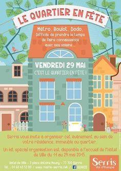 Apéritif Quartier en Fête à l'Hôtel de Ville de Serris vendredi 29 mai à 18:30 dans les Jardin de l'Hôtel de Ville de Serris