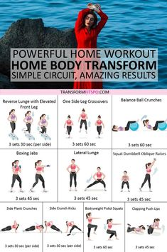 #homeworkouts #getresults #womensworkouts #femalefitness  Transform your body with this amazing home workout.  You will see the amazing results almost immediately.  Please repin if this workout helped you!