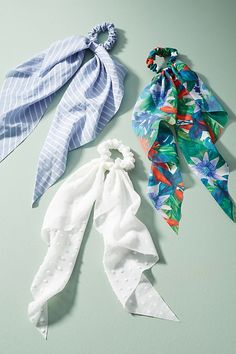Nantucket Bow-Tied Hair Tie Set $20