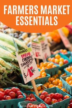 Supporting local farmers is so good for the environment and local economy and if you love going to farmers markets as much as I do, you need these Farmers Market Essentials! #farmersmarket #farmersmarketessentials