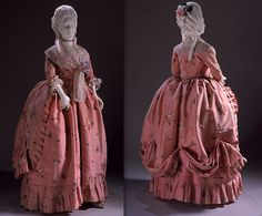 England  Woman's Dress (open robe and petticoat), circa 1770-1780…
