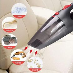 Portable Vacuum Cleaner, Car Vacuum, Led Auto, Cord Car, Led Light Design, Clean Your Car, Car Accessories For Girls, Cleaning Materials, Cleaning Kit