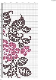 Etamin Örnekleri Beaded Embroidery, Cross Stitch Embroidery, Hand Embroidery, Cross Stitch Rose, Cross Stitch Flowers, Counted Cross Stitch Patterns, Cross Stitch Designs, Crochet Basics, Brick Stitch