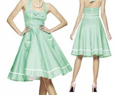 Talking Trash & Wasting Time: WANT - Helly Bunny Mint 50's style dress