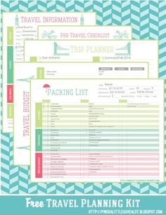 The Ultimate Printable Vacation Planner for Families | Travel ...