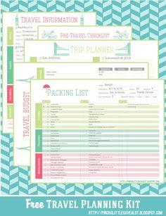 Free: Travel Planning Kit